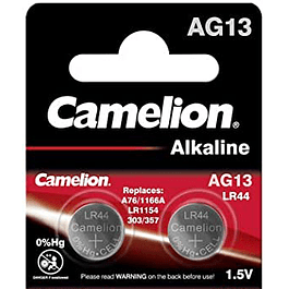 PAR DE PILAS ALCALINAS CAMELION  LR44 1,5 V