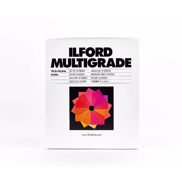 KIT FILTROS MULTIGRADO ILFORD 8,9X8,9 CMS (USO SOBRE EL LENTE)