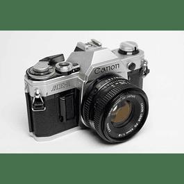 CAMARA ANÁLOGA REFLEX CANON  AE-1 CON LENTE CANON FD 50mm f1.8