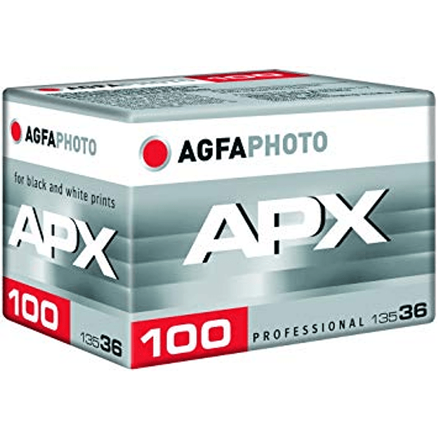 ROLLO PELÍCULA FOTOGRÁFICA BLANCO Y NEGRO 35MM AGFA PHOTO APX 100 -  36 EXP