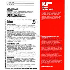 REVELADOR ILFORD ID-11 BLANCO Y NEGRO - RINDE 5 LT