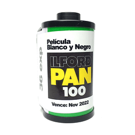 ROLLO (CARGA) PAN 100 PELICULA BYN 36 EXP.