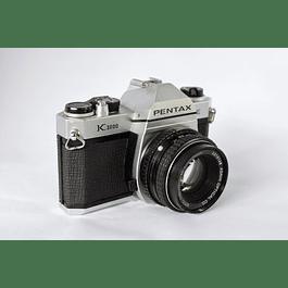 CÁMARA ANALÓGICA REFLEX 35mm  PENTAX K1000 SE+  LENTE 50mm f2