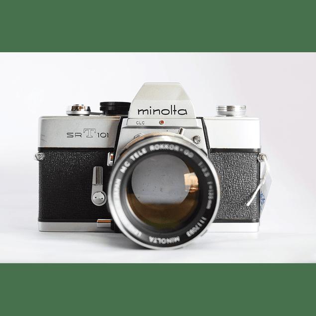 CÁMARA FOTOGRÁFICA ANALÓGICA REFLEX MINOLTA SRT-101 + LENTE 135mm f3.5