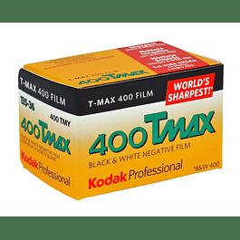 ROLLO PELÍCULA FOTOGRÁFICA BLANCO Y NEGRO 35MM KODAK TMAX 400 -  36 EXP