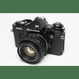 CÁMARA FOTOGRÁFICA REFLEX ANALÓGICA FUJICA AX-3  35mm + LENTE 50mm f1.9