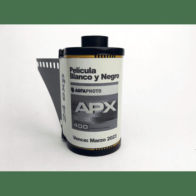ROLLO (CARGA) PELICULA BLANCO Y NEGRO 35mm AGFAPHOTO APX 400, 24 exp.