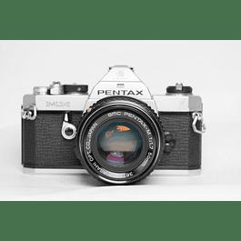 CÁMARA FOTOGRÁFICA REFLEX ANALÓGICA PENTAX MX + LENTE 50mm f1.7