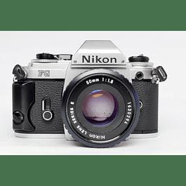 CAMARA FOTOGRÁFICA REFLEX ANALÓGICA NIKON FG  + LENTE NIKON 50mm f1.8
