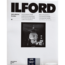 PAPEL FOTOGRAFICO ILFORD RC MULTIGRADO IV , Perla, 30X40 cms., sobre de 10 hojas.