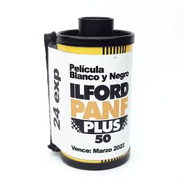 ROLLO (CARGA) ILFORD PANF  PLUS 50 - PELÍCULA BLANCO Y NEGRO 24 exp