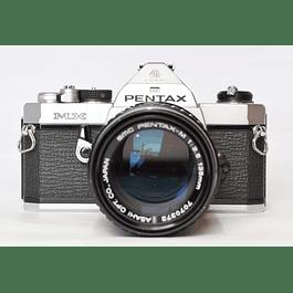 CAMARA FOTOGRÁFICA REFLEX  PENTAX MX ANALÓGICA + LENTE PENTAX SMC 135mm  f3.5