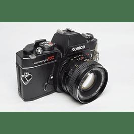 CÁMARA FOTOGRÁFICA REFLEX ANALÓGICA 35mm KONICA AUTOREFLEX TC + LENTE 50mm F1.7,