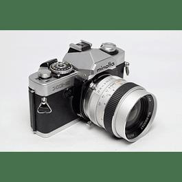 CAMARA FOTOGRÁFICA REFLEX MINOLTA XG-S ANALÓGICA + LENTE 35mm f2.8