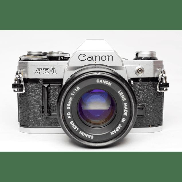 CAMARA REFLEX ANÁLOGA CANON AE-1 + LENTE CANON 50mm F1.8