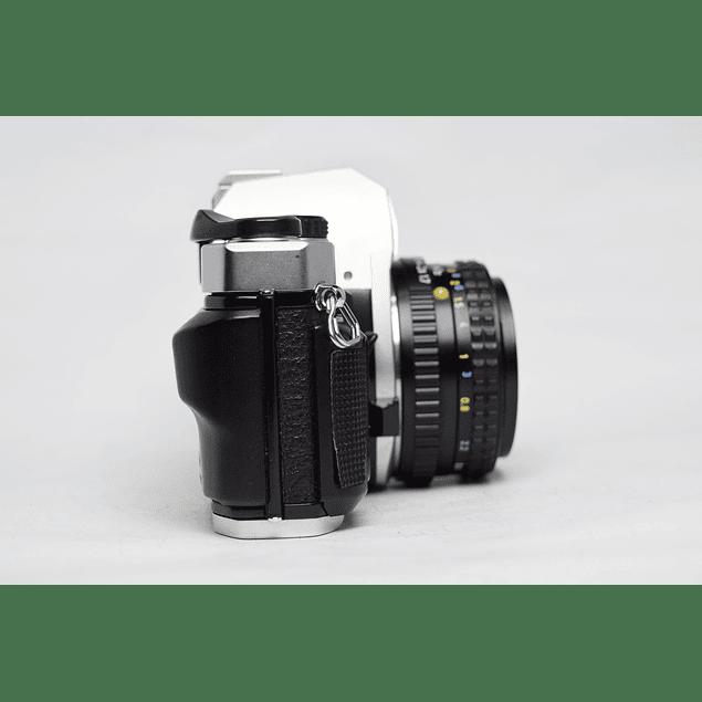 CÁMARA REFLEX ANÁLOGA PENTAX SUPER PROGRAM + LENTE 50mm  f.17
