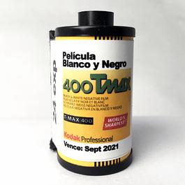 ROLLO (CARGA) TMAX 400 PELICULA BLANCO Y NEGRO 24 EXP.