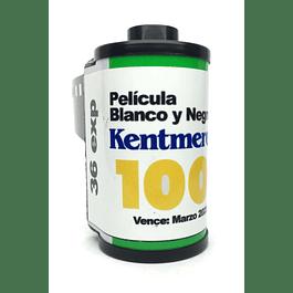 ROLLO (CARGA) KENTEMERE 100 PELICULA BLANCO Y NEGRO 36 EXP.