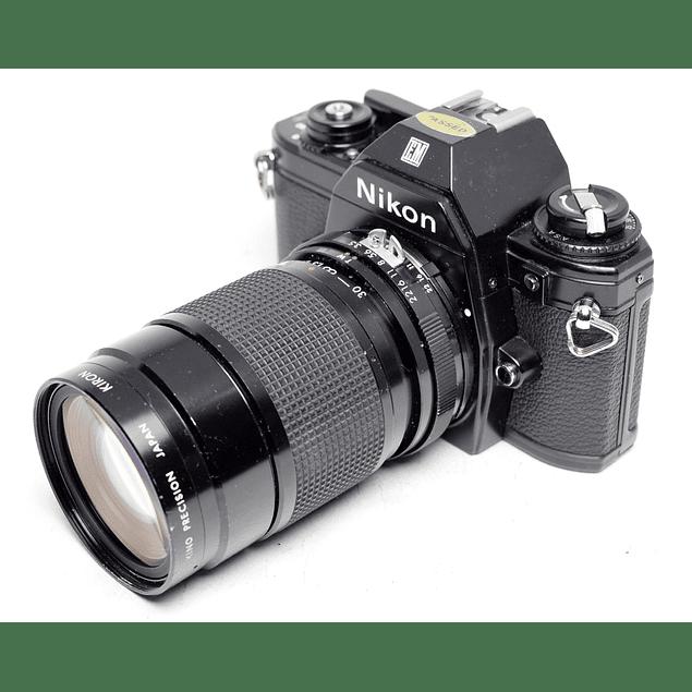 CÁMARA REFLEX ANALÓGICA NIKON EM + LENTE 30-80mm f3.5
