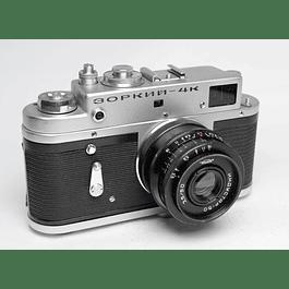 CÁMARA FOTOGRÁFICA ANÁLOGA TELEMÉTRICA ZORKI 4K  + LENTE 50MM F3.5