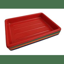 BANDEJA PLASTICA PARA REVELADO 20X30 CMS (FAB. NACIONAL)