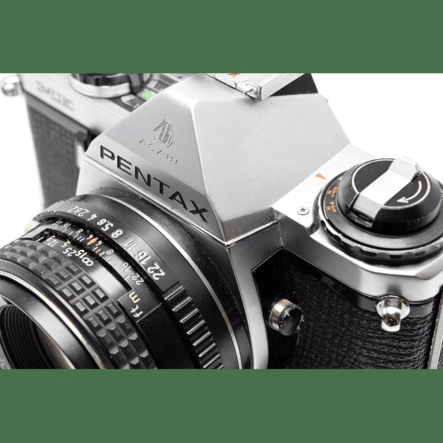 CÁMARA FOTOGRÁFICA REFLEX ANALÓGICA PENTAX ME + Lente PENTAX SMC 50mm F2