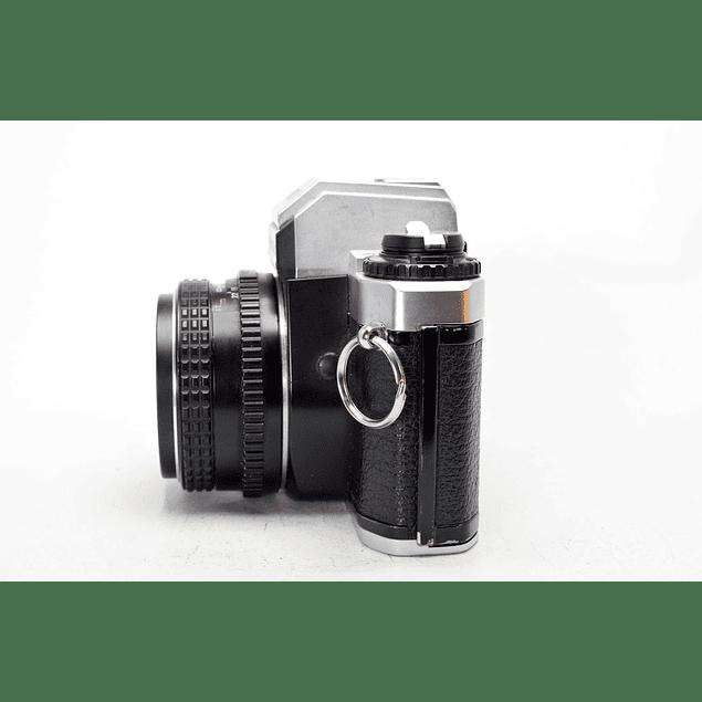 CÁMARA FOTOGRÁFICA REFLEX ANALÓGICA PENTAX PROGRAM PLUS + Lente PENTAX SMC 50mm