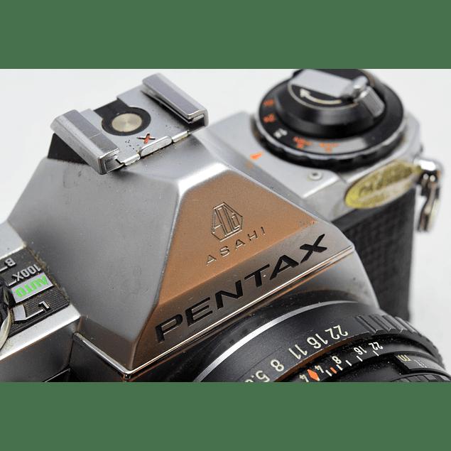CÁMARA FOTOGRÁFICA REFLEX ANALÓGICA PENTAX ME + Lente PENTAX SMC 50mm f1.7
