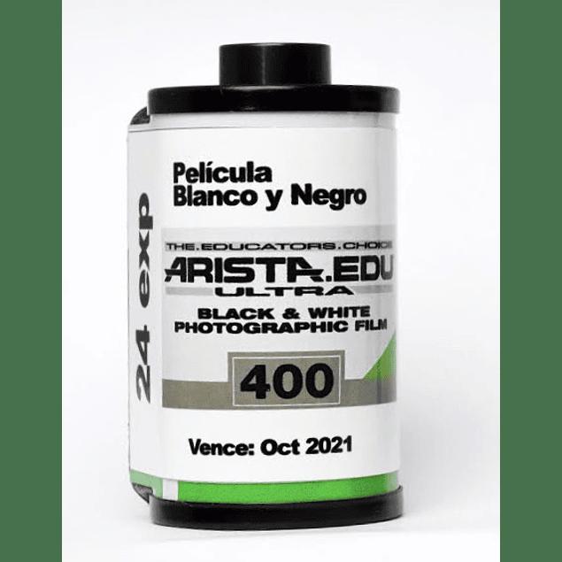 ROLLO (CARGA) ARISTA EDU 400 PELÍCULA BLANCO Y NEGRO 24 exp