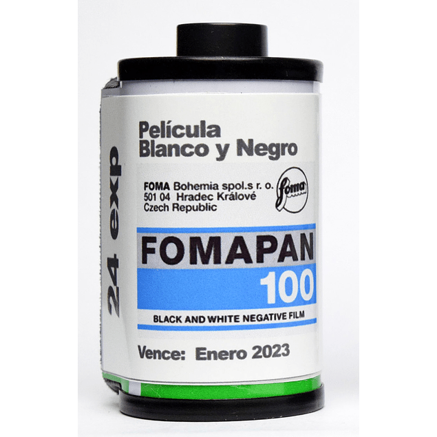 ROLLO ( CARGA) PELICULA BLANCO Y NEGRO 35mm FOMAPAN 100, 24 exp.