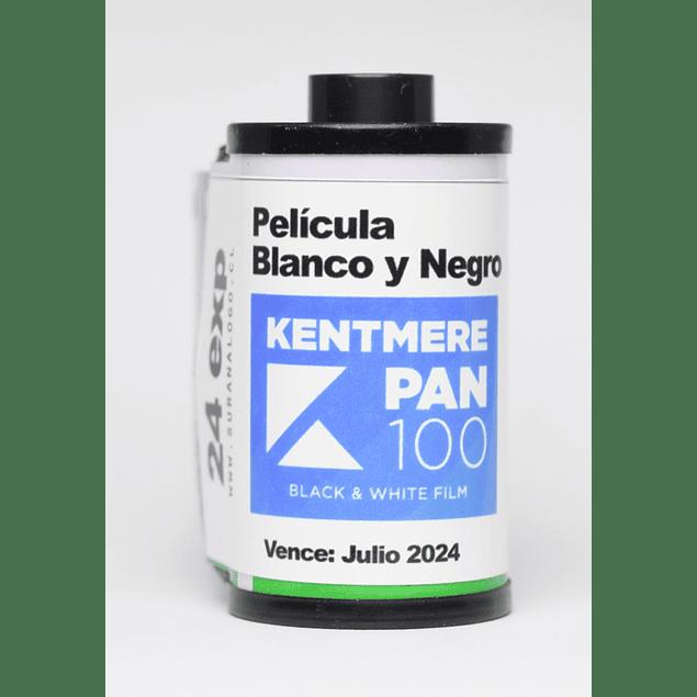 ROLLO (CARGA) PELÍCULA BLANCO Y NEGRO 35mm - KENTMERE 100 24 exp
