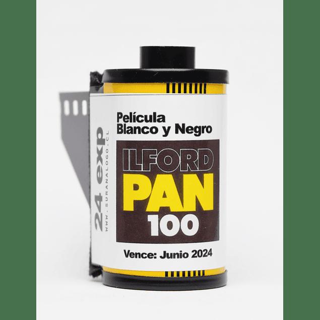 ROLLO (CARGA) PAN 100 PELICULA BLANCO Y NEGRO 24 EXP.