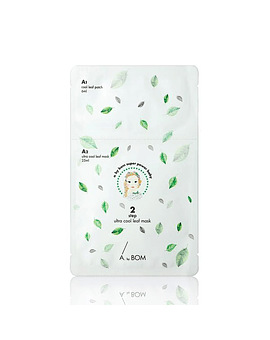 A by Bom Ultra Cool Leaf Mask ( 2 pasos)