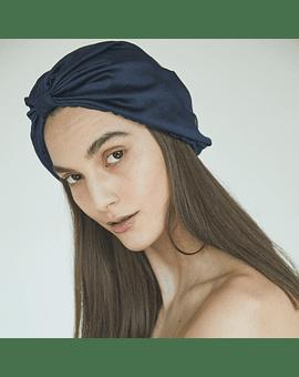 Turbante de Seda Color Azul Marino Marina Colorina