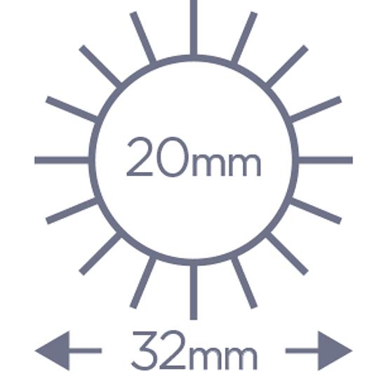 Cepillo Denman termocerámico D61 25 mm