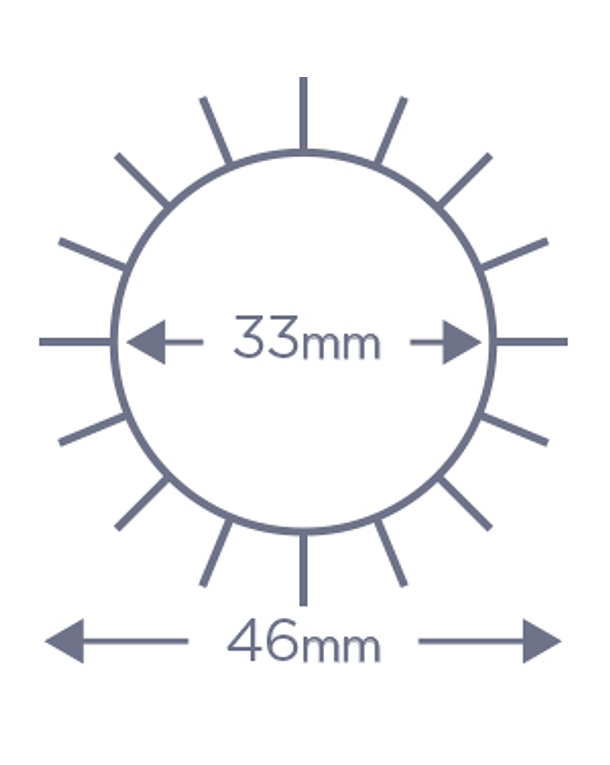 Cepillo Denman Termocerámico D62 35mm 3