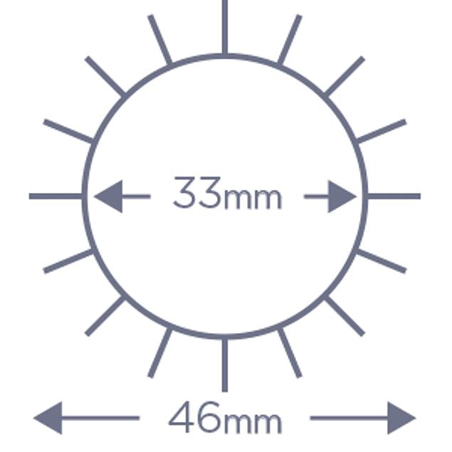 Cepillo Denman termocerámico D62 35mm