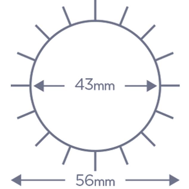 Cepillo Denman termocerámico D63 45 mm