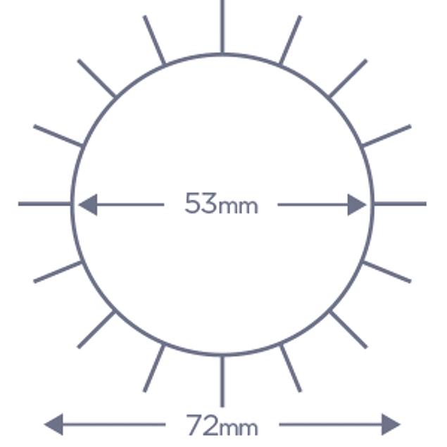 Cepillo Denman termocerámico D64 55 mm