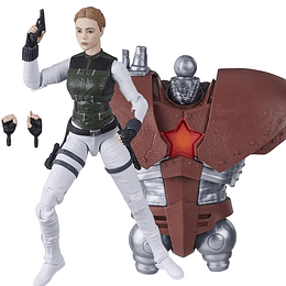 Yelena Belova Black Widow Crimson Dynamo BAF Marvel Legends 6""
