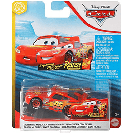Lightning McQueen With Sign