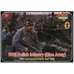 WWI Polish Infantry (Blue Army) Set M130 1:72