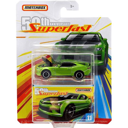 17 Chevy Camaro Superfast 50th Anniversary Matchbox 1:64