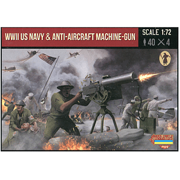 WWII US Navy With Anti-Aircraft Machine-Gun M112 1:72