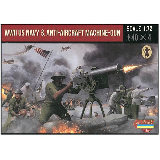 WWII US Navy With Anti-Aircraft Machine-Gun M112 1:72