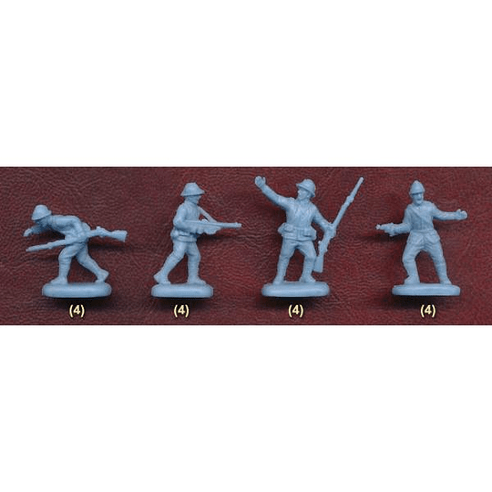 WWI French Infantry In Summer Dress Set M134 1:72