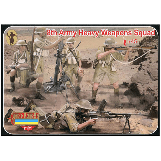 8th Army Heavy Weapons Squad Set M132 1:72