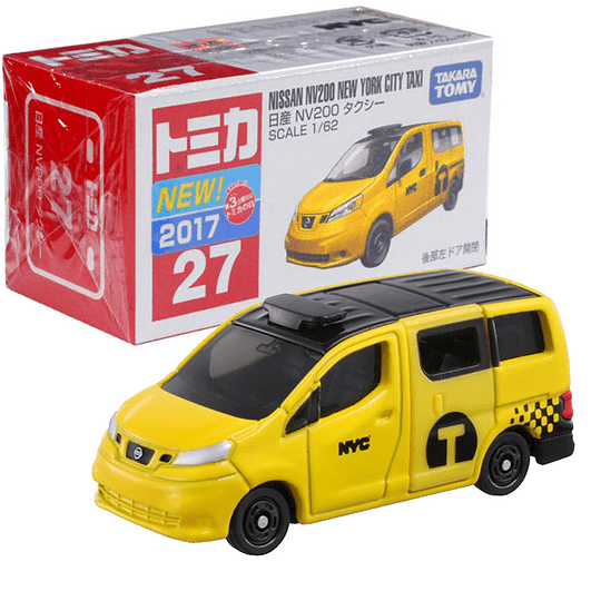 Nissan NV200 New York City Taxi #27 1:62 Tomica