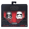Captain Phasma & Stormtrooper Die-Cast Helmets Titanium