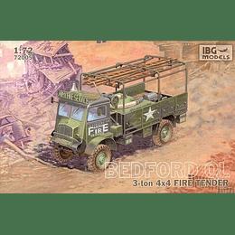 Bedford QL 3 Ton 4x4 Fire Tender Set 72005 1:72
